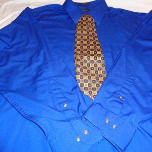 Arrow Poplin Dress Shirt & tie bundle Via Condotti